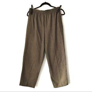 Vintage houndstooth beige high waist straight leg pants - size 8 / 10 US